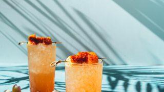 Li Hing Pineapple Coconut Margaritas
