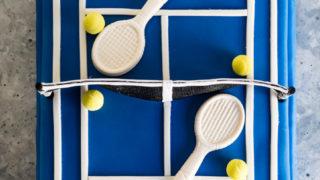 Australian Open Tennis Court Tim Tam Cake