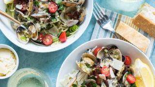 New Zealand White Wine Steamer Clams Pasta