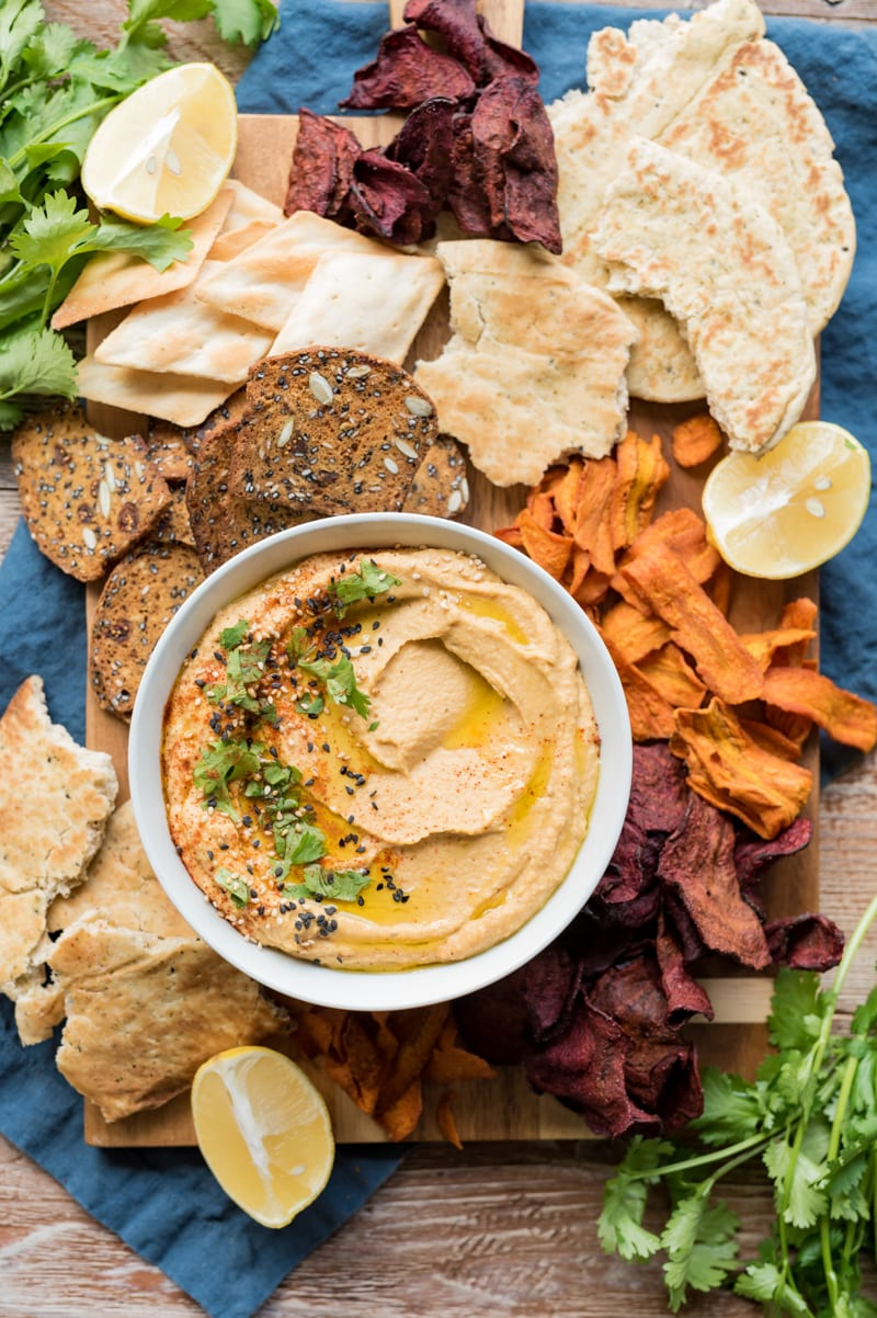 Spiced Butternut Squash Hummus Dip www.pineappleandcoconut.com