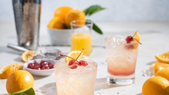 Meyer Lemon Rum Sour Cocktail www.pineappleandcoconut.com