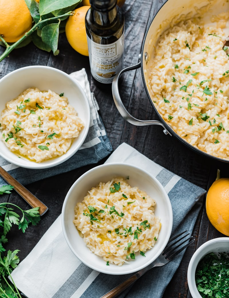 Smoky Meyer Lemon Risotto www.pineeappleandcoconut.com