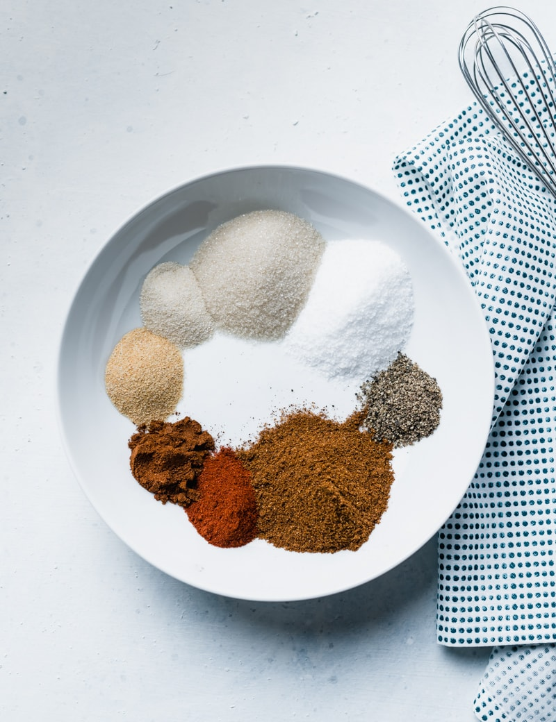 white bowl with various spices in it