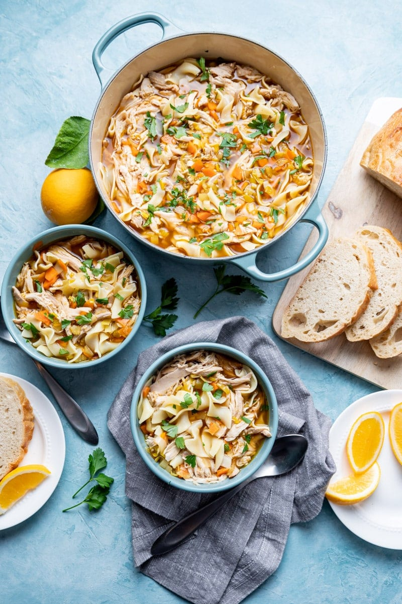 Smoky Chicken Noodle Soup www.pineappleandcoconut.com