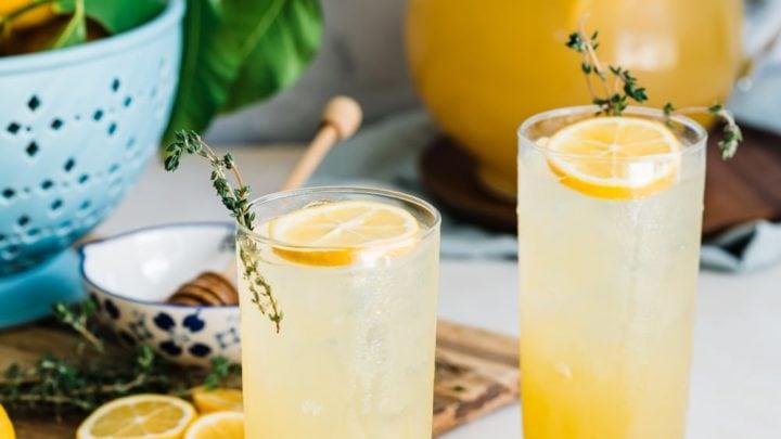 Honey Thyme Meyer Lemon Lemonade