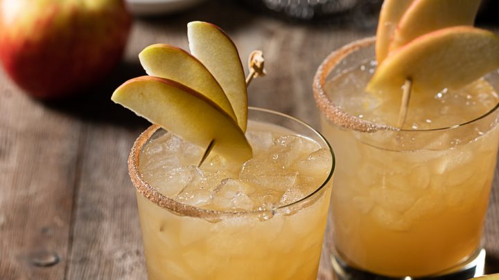 Spiced Apple Tiki Smash - A Fall Rum Cocktail