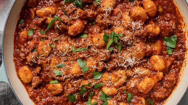 Spicy Italian Sausage Gnocchi Ragu Recipe