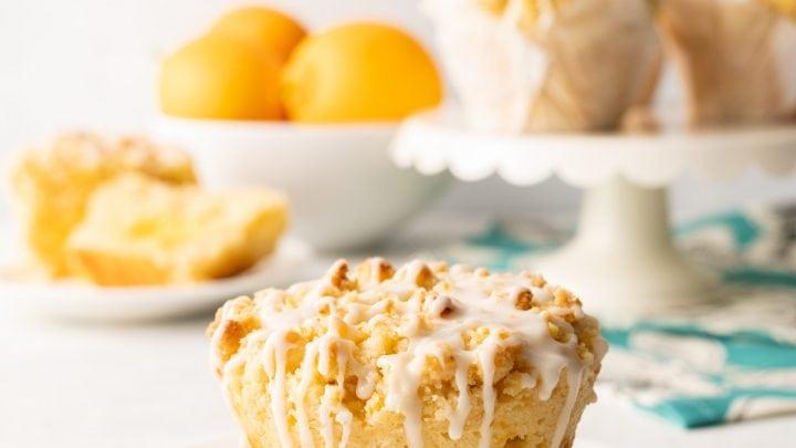 Jumbo Bakery Style Meyer Lemon Crumb Muffins