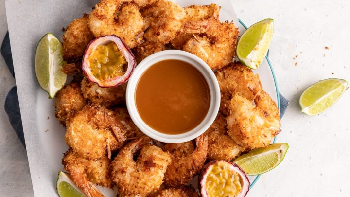 Air Fryer Coconut Shrimp with Habanero Passion Fruit Dipping Sauce