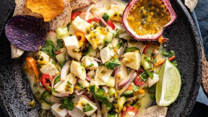 Halibut Passion Fruit Ceviche