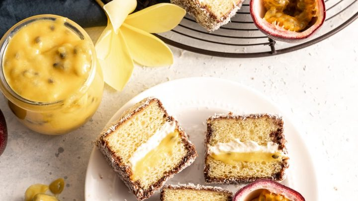 Passion Fruit Lamingtons