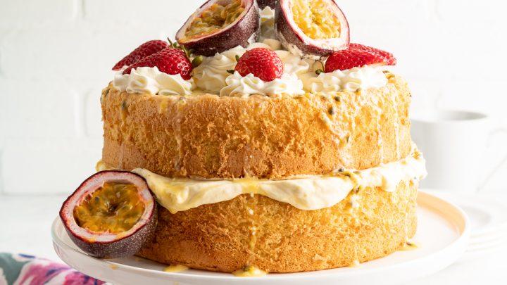 Triple Passion Fruit Sponge Cake
