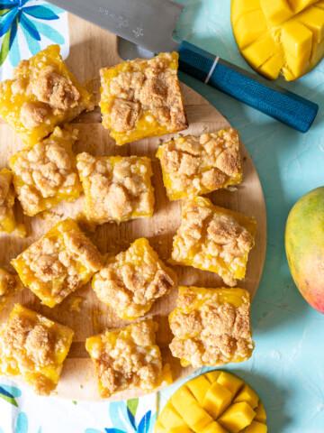 Malted Macadamia Nut Mango Crumb Bars 7