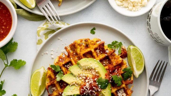 Savory California Hash Brown Waffles with Avocado