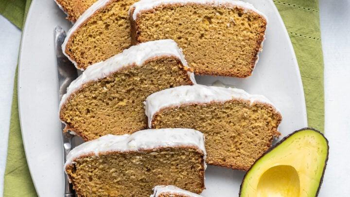 Super Moist Lime Glazed Avocado Bread