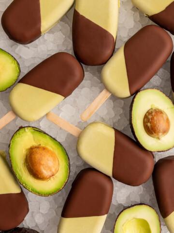 Chocolate Dipped Coconut Avocado Ice Cream Bars Featured Image 1