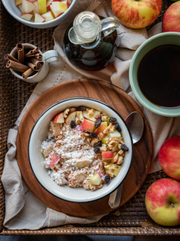 Maple Cinnamon Apple Cottage Cheese Breakfast Bowls 3